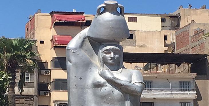 تمثال حاملة الجرة، صورة أرشيفية