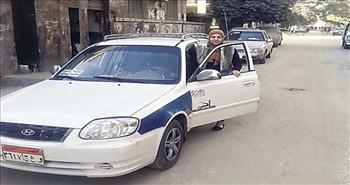 أسماء جودة.. أول سائقة تاكسي في بني سويف «رسميا»